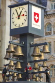 Swiss clock with bells in Leicester Square