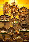 Swiss clocks on wall for sale.