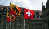 Swiss federation and Canton of Bern flags
