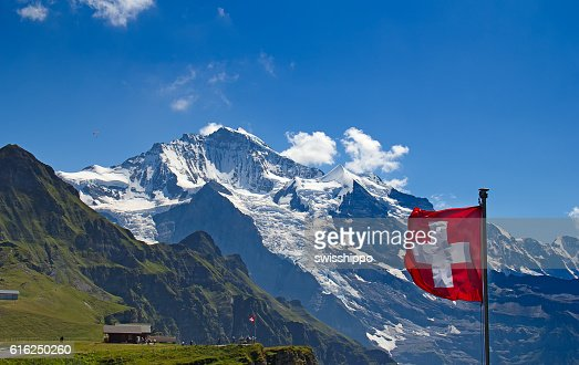 Swiss flag : Stock Photo