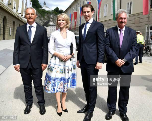 Swiss Foreign Minister Didier Burkhalter Foreign Minister of Liechtenstein Aurelia Frick Austrian Foreign Minister Sebastian Kurz Luxemburg's Foreign...