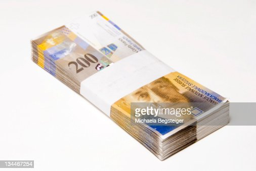 Swiss francs, bills