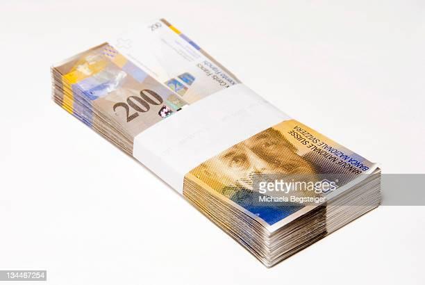 Swiss francs, bills