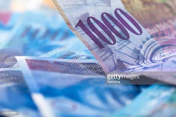 Schweizer Francs Nahaufnahme