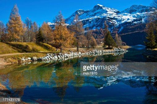 スイスシルヴァプラーナ湖 スト...