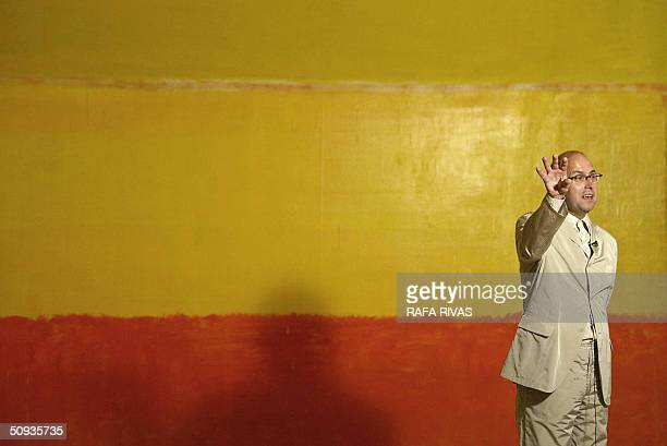 Swiss Oliver Wick the curator of the new Guggenheim Bilbao Museum exhibition 'Mark Rothko Walls of Light' talks about US artist Rothko's work 07 June...