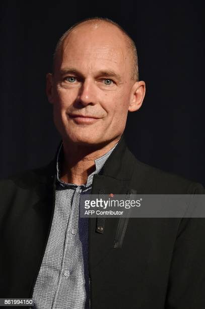 Swiss pilot and Chairman of the Solar Impulse sunpowered aircraft company Bertrand Piccard looks on during the 30th congress of the Association of...
