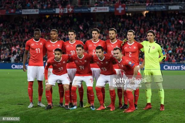 Swiss players midfielder Edimilson Fernandes defender Manuel Akanji midfielder Granit Xhaka midfielder Fabian Frei foward Haris Seferovic midfielder...