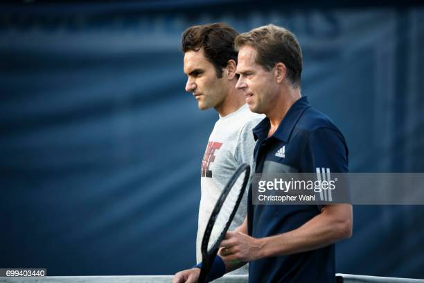 Swiss professional tennis player Roger Federer is photographed for Self Assignment on August 4 2014 in Toronto Ontario