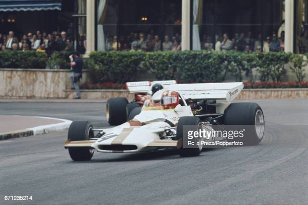 Swiss racing driver Jo Siffert drives the BRM P160 BRM P142 30 V12 for Yardley Team BRM in the 1971 Monaco Grand Prix in Monte Carlo on 23rd May 1971