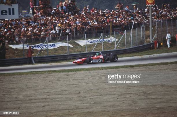 Swiss racing driver Silvio Moser drives the Jolly Club Switzerland Bellasi F1 70 Ford Cosworth DFV 30 V8 in the 1971 Italian Grand Prix at Monza in...