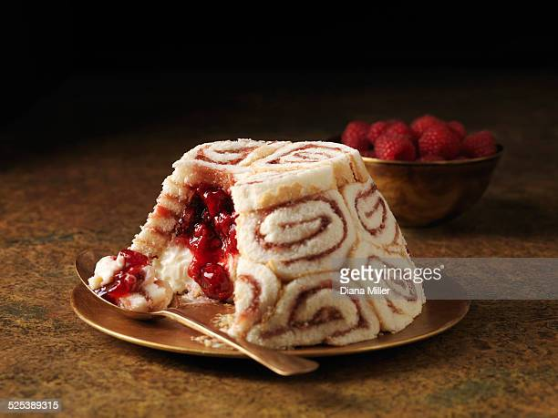 Swiss roll dessert