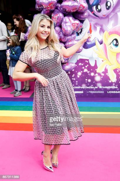 Swiss singer Beatrice Egli attends the 'My little Pony' Premiere at Zoo Palast on October 3 2017 in Berlin Germany