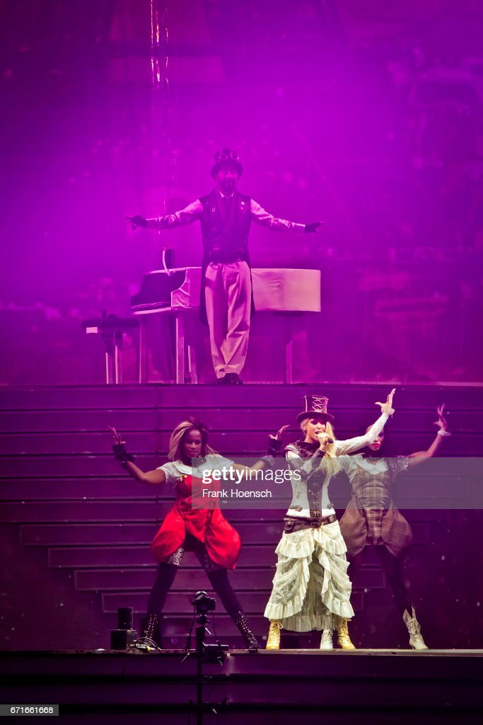 Swiss singer DJ Bobo performs live during a concert at the Mercedes-Benz Arena on April 22, 2017 in Berlin, Germany.