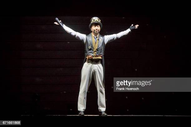 Swiss singer DJ Bobo performs live during a concert at the MercedesBenz Arena on April 22 2017 in Berlin Germany