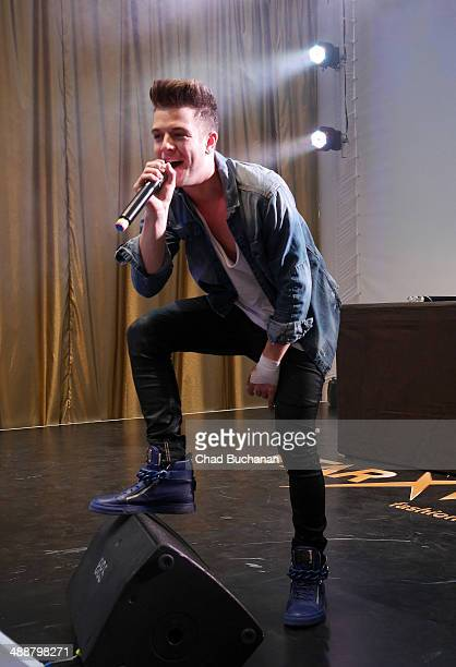 Swiss singer Luca Haenni sighted performing at the Alexa shopping center on May 8 2014 in Berlin Germany