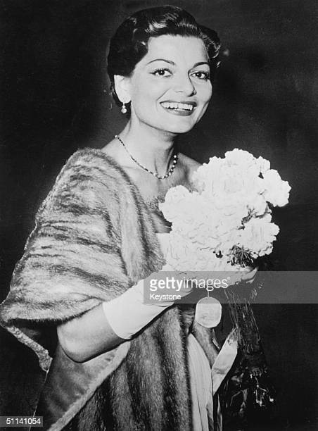 Swiss singer Lys Assia shortly after winning the very first Eurovision Song Contest with her song 'Refrain' 25th May 1956