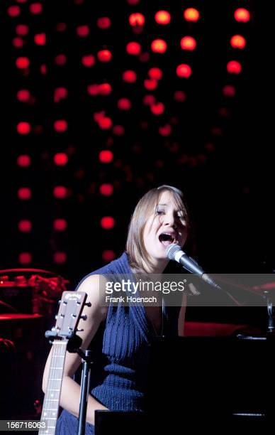 Swiss singer Sophie Hunger performs live during a concert at the Volksbuehne on November 19 2012 in Berlin Germany