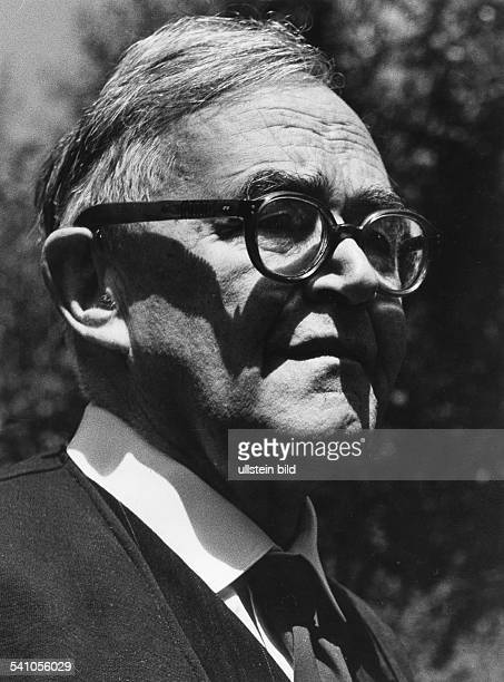 KARL BARTH Swiss theologian Photographed 1957