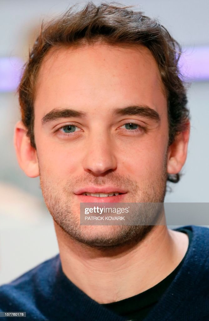 Swiss writer Joel Dicker poses before the French literary TV show 'Au field de la nuit' on December 6, 2012 in Le Pre-Saint-Gervais.