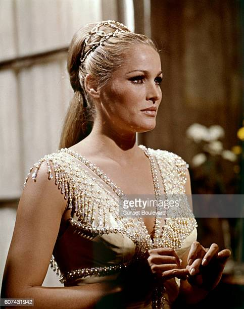 SwissAmerican actress Ursula Andress on the set of The Blue Max based on the novel by Jack Hunter and directed by John Guillermin