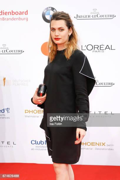 Swissfrench actress Ella Rumpf during the Lola German Film Award red carpet arrivals at Messe Berlin on April 28 2017 in Berlin Germany
