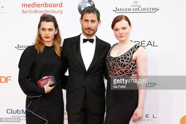 Swissfrench actress Ella Rumpf german actor Clemens Schick and german actress Maria Dragus during the Lola German Film Award red carpet arrivals at...