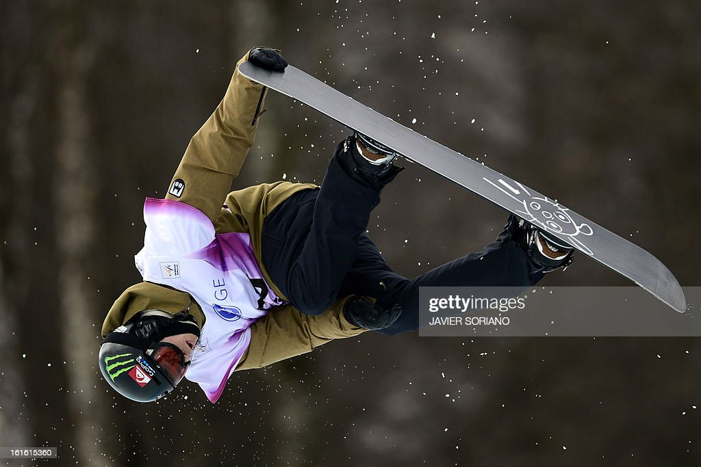 SwissIouri Podladtchikov competes in a Half-Pipe qualifying race during the Snowboarding World Cup Test Event at Snowboard and Free Style Center in Rosa Khutor near Sochi on February 13, 2013. AFP PHOTO / JAVIER SORIANO