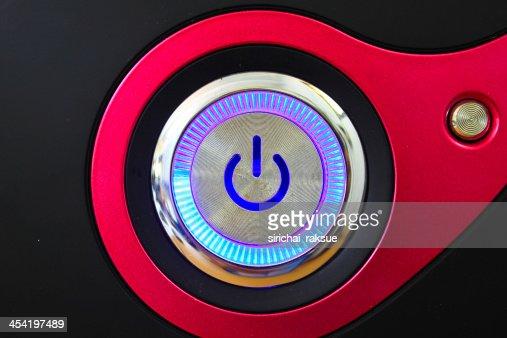 Encender el ordenador : Foto de stock