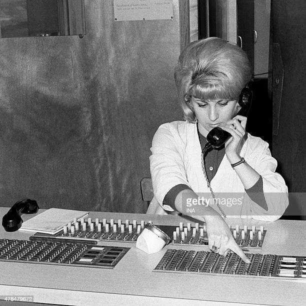 Switchboard operator in situation used on the Societe Generale of Foundry