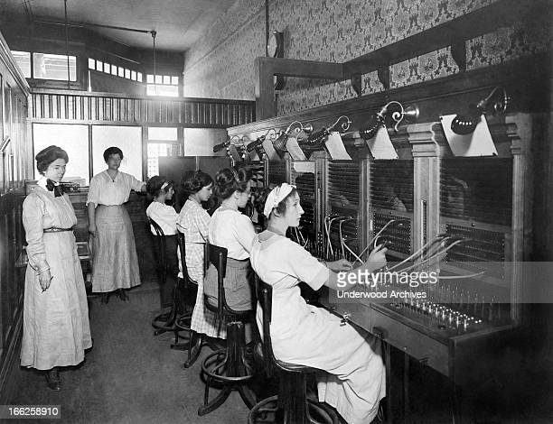 Switchboard operators Willows California October 10 1911