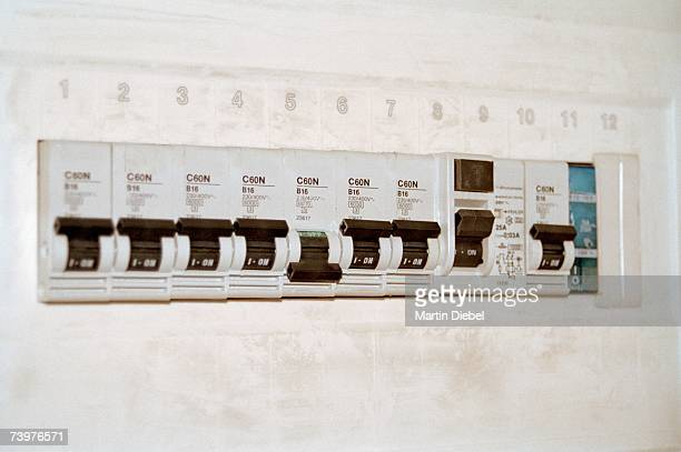 fuse box stock photos and pictures getty images switches in a fuse box
