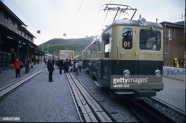 CHE Switerland Top of Europe the mountainrailway in the Oberland region