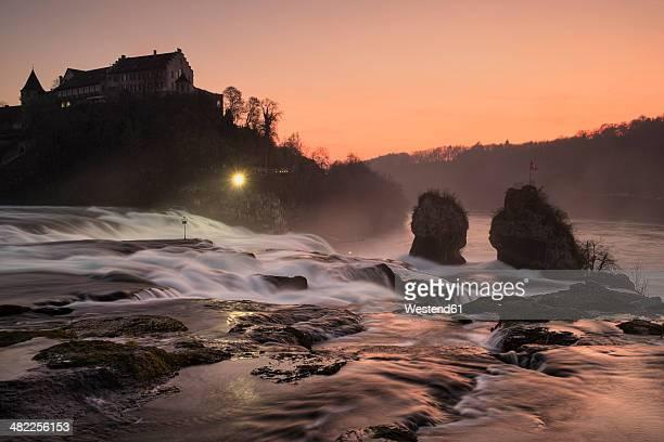 Switzeland, Schaffhausen, Rhine falls with Laufen Castle