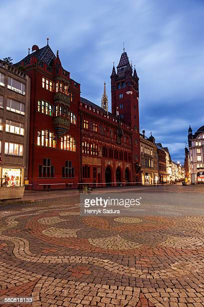 Switzerland, Basel-Stadt, Basel, Town hall and market square