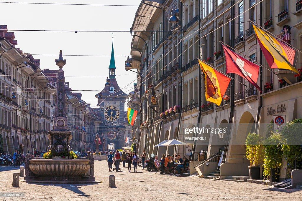 Switzerland, Bern, old town, Kramgasse