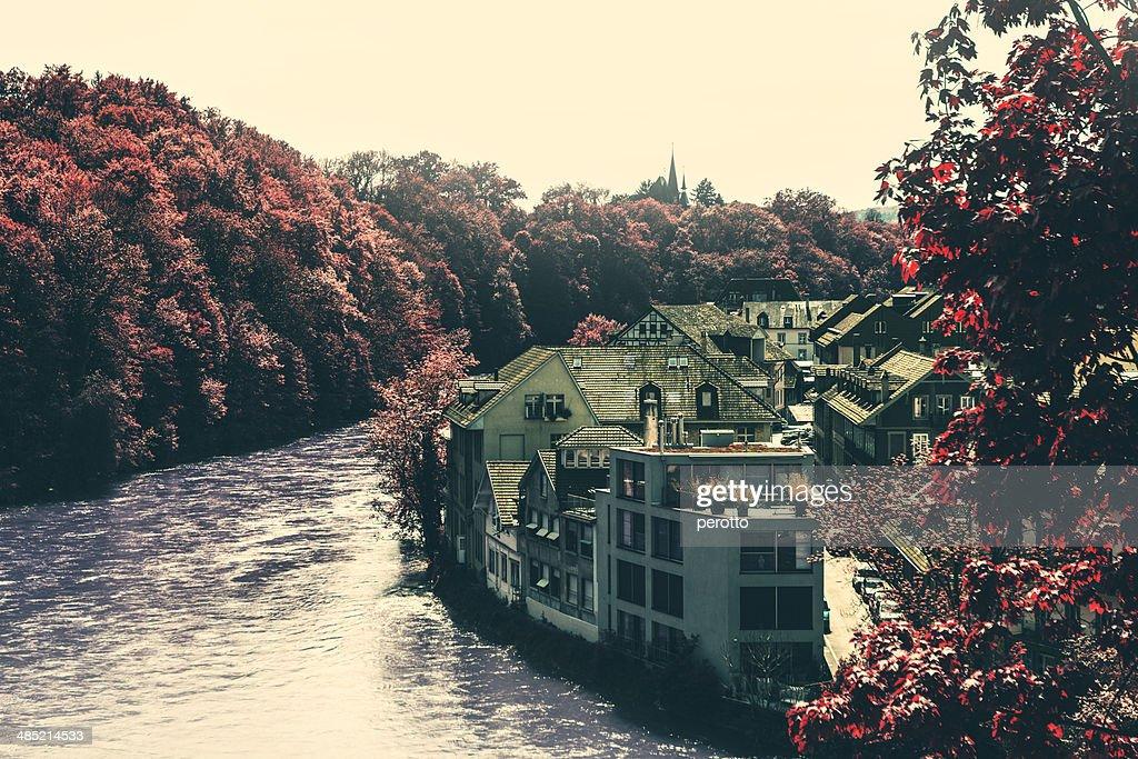 Switzerland, Bern, View of Aare river