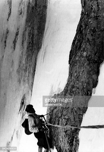 Switzerland Bernese Alps EigerFirst ascent of Eiger north face 2124July 1938 climbing the mountain faceJuly 1938