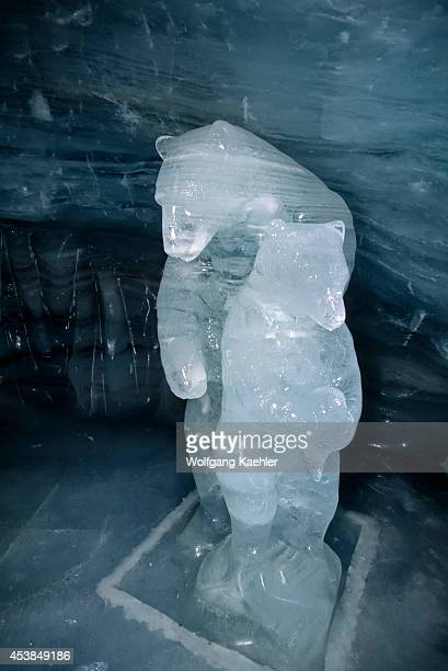 Switzerland Bernese Oberland Jungfraujoch Ice Palace Bear Ice Sculptures