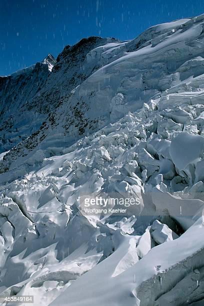 Switzerland Bernese Oberland Jungfraujoch Train View Of Glacier From Eismeer Station