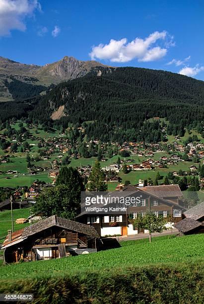 Switzerland Bernese Oberland Jungfraujoch Train View Of Grindelwald Valley