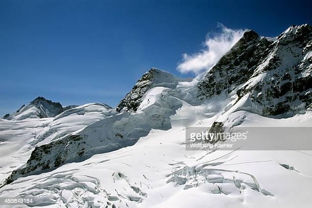 Switzerland Bernese Oberland Jungfraujoch View Of Glacier