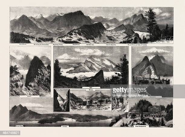 Switzerland Buochshorn Unterwalden Engelberg Stanzerhorn Bernese Alps Alpnacht Mount Pilate Lake Of Lucerne Gersau Rigi Meierei Rotzloch Stanzstadt...