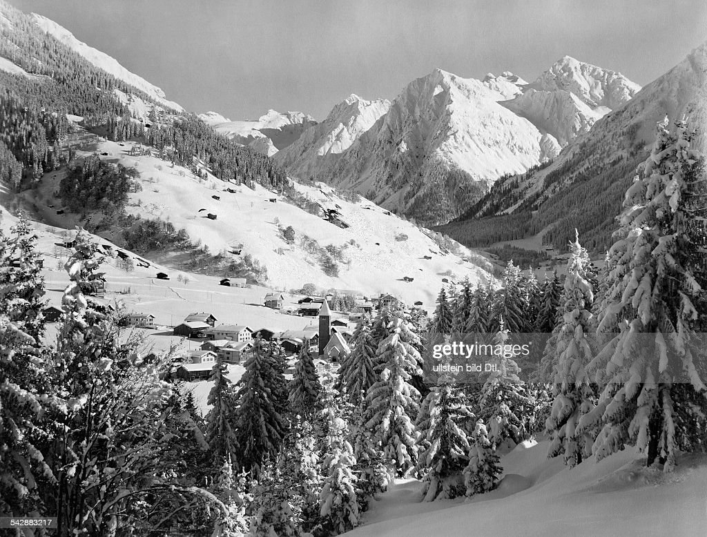 Switzerland canton of Grisons Klosters in the wintertime date unknown probably 1920ies photo by PhotoHouse S Berni