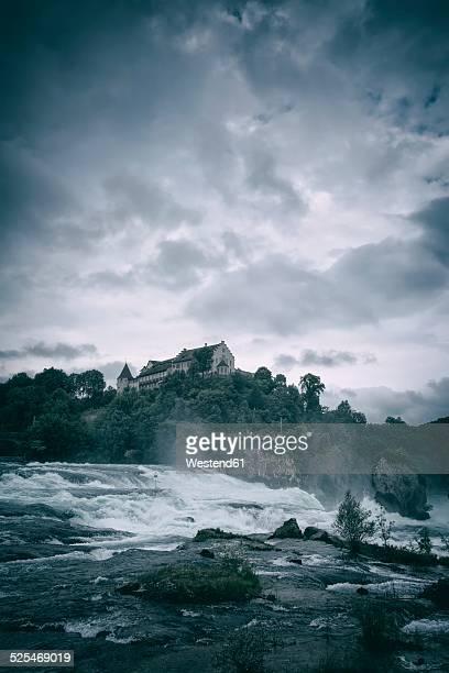 Switzerland, Canton of Schaffhausen, Schaffhausen, Rhine falls with Laufen Castle