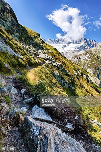 Switzerland, Canton of Uri, Goescheneralp, Moosstock with Dammastock glacier