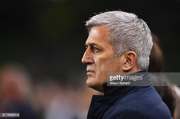 Switzerland Coach Vladimir Petkovic looks on during the International Friendly match between Republic of Ireland and Switzerland at Aviva Stadium on...