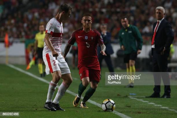 Switzerland defender Stephan Lichtsteiner and Portugal defender Antunes during the match between Portugal v Switzerland FIFA 2018 World Cup Qualifier...
