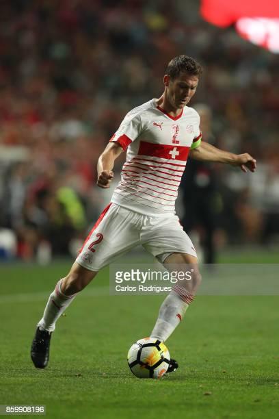 Switzerland defender Stephan Lichtsteiner during the match between Portugal and Switzerland for FIFA 2018 World Cup Qualifier at Estadio da Luz on...
