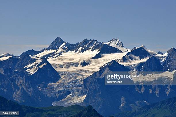 Switzerland Eiger Moench Jungfrau The mountains 'Eiger Moench and Jungfrau'